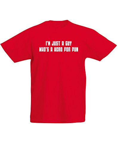 Price comparison product image Hero For Fun, Kids Printed T-Shirt - Red/White 12-13 Years