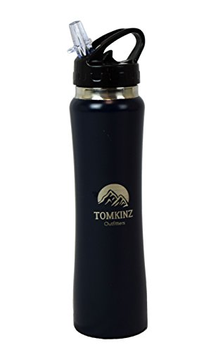 Tomkinz Insulated Stainless Steel Water Bottle (Navy Blue, 16.9 oz)