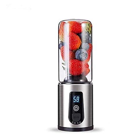 Batidora eléctrica exprimidor de jugo mezclador USB recargable mini frutas mezcladores exprimidores de frutas extractores de la comida Milkshake batidora: ...