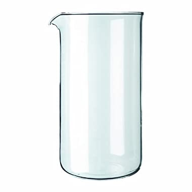 Bodum Spare Glass Carafe for French Press Coffee Maker, 0.35-Liter, 12-Ounce