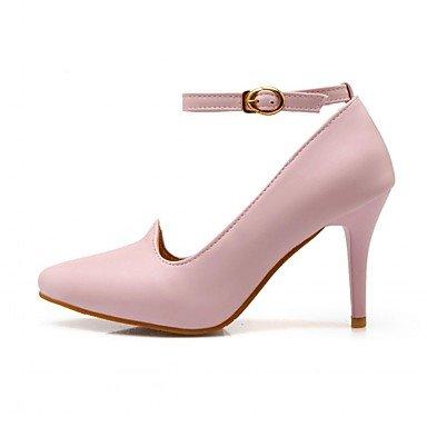 Confort Décontracté À Lvyuan Nouveauté Femme Boucletalon Chaussures Talons Automne Printemps Beige Polyuréthane Habillé ggx Marche 1qRXwRF