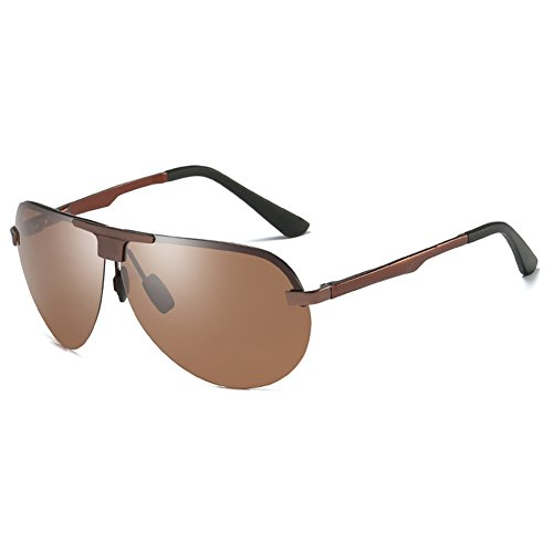 SYIWONG Mens Driving Polarizing Sunglasses Half Frame Super Light - Bean Ray Sunglasses