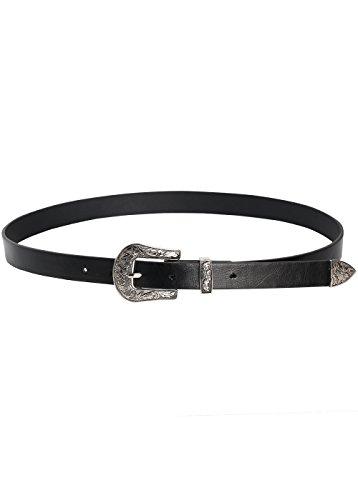 Wink Gal Women's Boho Vintage Designer Metal Western Buckle Belt (One Size, Style#4 Silver) (Designer Style Belt Buckle)