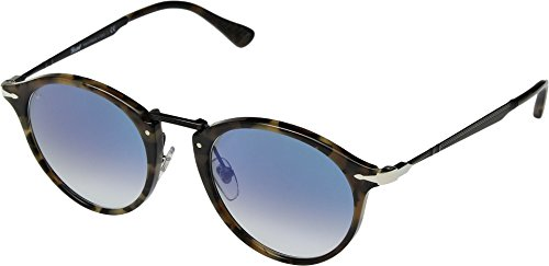 (Persol Men's 0PO3166S Gunmetal/Clear Gradient Blue One Size)