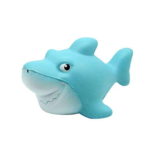 Liping Shark Stress Reliever Scented Super Slow Rising Kids Toy Squeeze Toys (A) -