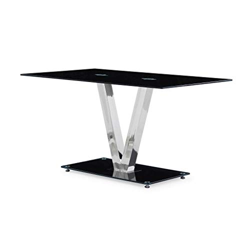 Global Furniture Dining Table with Black/Stainless Steel Legs