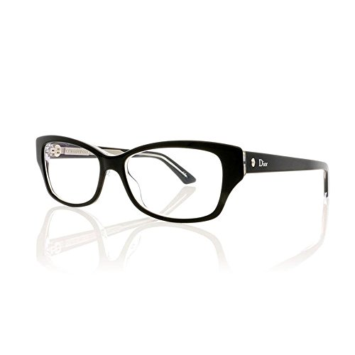 Christian Dior - MONTAIGNE 10, Geometric, acetate, women, BLACK CRYSTAL(G99), - Black Dior Christian