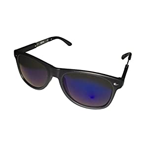 Kenneth Cole Reaction Matte Black Blue Mirror Lenses Sunglass Kc1259 2x