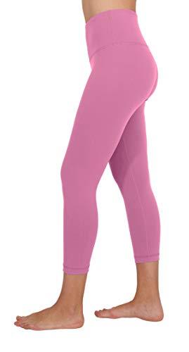 90 Degree By Reflex - High Waist Tummy Control Shapewear - Power Flex Capri - Cuban Orchid - Small