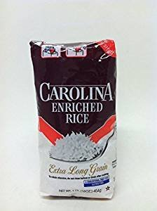 Carolina Enriched Rice Extra Long Grain Gluten Free 16 Oz. Pack Of 3. - Gluten Wheat Starch