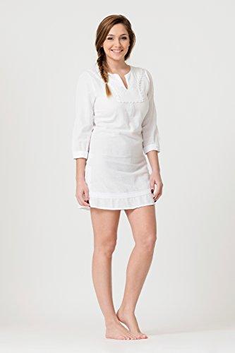 Blanc 100 La Cotonniere Tunique Coton Chloe wXXrqt