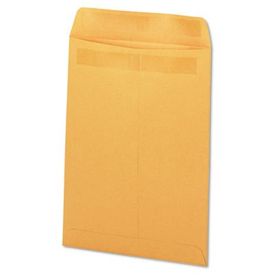 Stick Heavyweight Kraft Catalog Envelopes (Self-Stick File-Style Envelope, Contemporary, 10 x 13, Brown, 250/Box, Sold as 250)