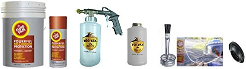 Fluid Film Undercoating Kit 5 Gallon with PRO Spray Gun, Extension Wands, bottles, and everything you need.