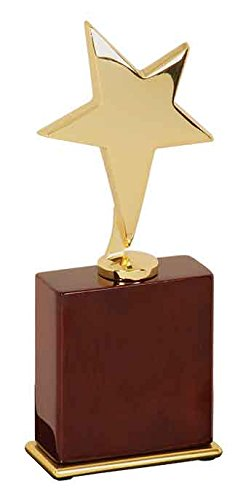 "Woltman - 7 1/2"" Gold Star Award on Rosewood Piano Finish Base from Woltman"