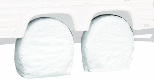 Classic Accessories 76280 RV Wheel Cover, Pair, White, 36 - 39 Wheel Diameter Size: 36 - 39 Wheel Diameter Color: White, Model: 76280, Outdoor & Hardware Store