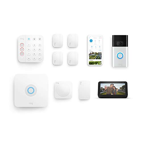Ring Alarm 8-piece Kit (2nd Gen) with Ring Video Doorbell (2nd Gen), Echo Show 5, and Ring Protect Plus Plan with annual auto-renewal