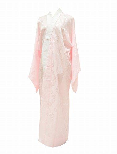 (着物ひととき) 長襦袢 中古 リサイクル 女性 化繊 洗える 花文様 裄67.5cm ながじゅばん ピンク系 Lサイズ ll1712b