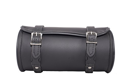 Plain Tool Bag - 12 Inch Plain Motorcycle Tool Bag with Two Roller Buckle Straps