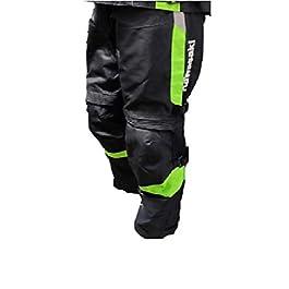 KAWASAKI GENUINE ACCESSORIES Kawasaki Riding Pant (Black/Green, Large)
