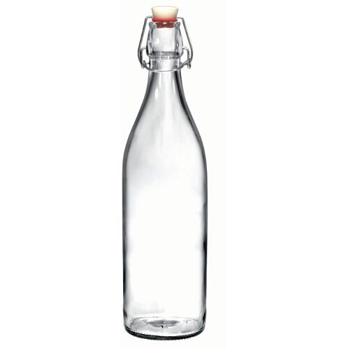 Bormioli Rocco Giara Glass Swing Top Bottle, Set of 6