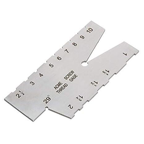 29 Degree Acme Screw Thread Gauge Gage Grinding Welding Ruler Measuring Tool