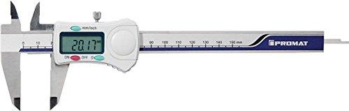 PROMAT Digital-Messschieber DIN862 150 mm mit Feststellschraube fü r Innen-, Auß en- und Tiefenmessung (Art.-Nr. 4000851055) NORDWEST Handel AG