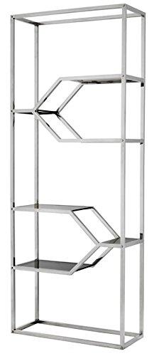 Casa-Padrino Mueble estantería de Acero Inoxidable diseñador ...