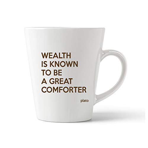 - Brown Wealth Is Well Know To Be A Great Comforter Ceramic Latte Mug - 17 OZ