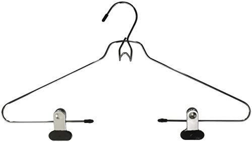 Whitmor Add-On Skirt/Blouse Hanger Set of 2 Chrome / Black