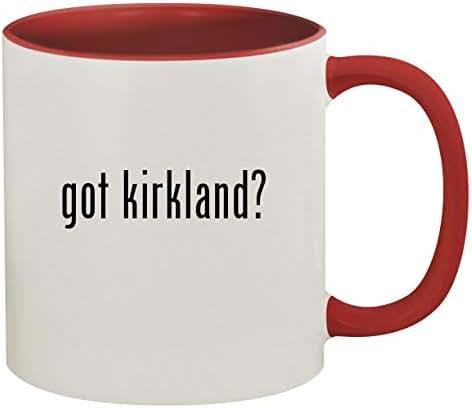 got kirkland? - 11oz Ceramic Colored Inside & Handle Coffee Mug, Red