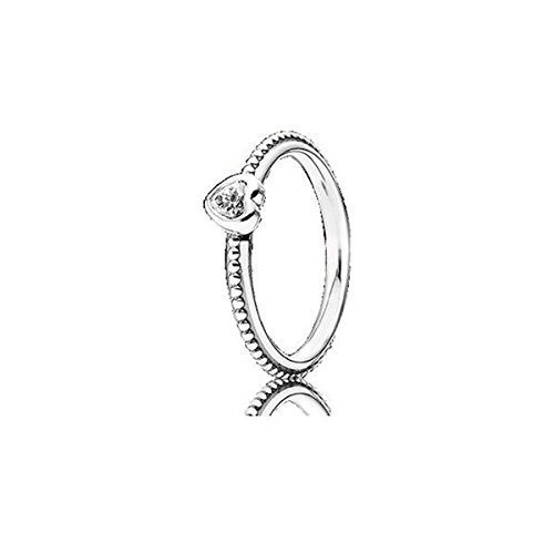 Pandora 190896CZ One Love Clear CZ Ring, Size 8 (Pandora Terrier Charm)