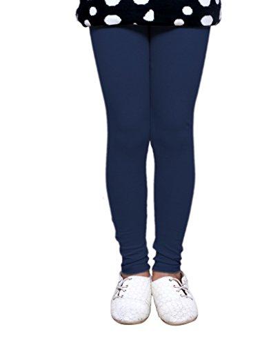 IndiWeaves Girls Pure Cotton Navy Blue Legging