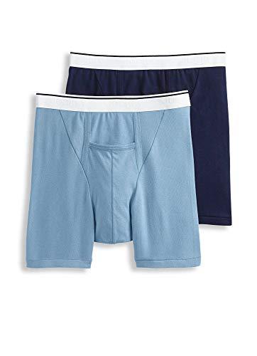 - Jockey Men's Underwear Pouch Boxer Brief - 2 Pack, Riverrock/Feeling Blue, XL