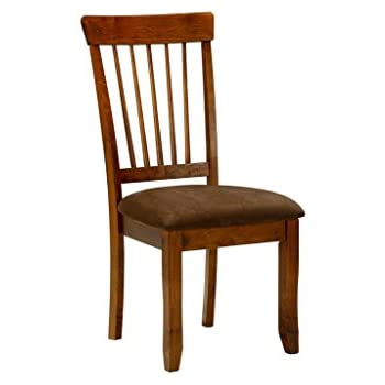 This item Ashley Furniture Signature Design Berringer Dining UPH Side Chair,  Hickory Stain Finish, Set of 2