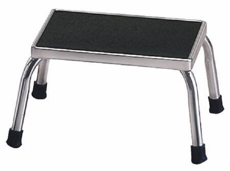 mckesson-step-stool-entrust-1-step-chrome-plated-steel-8-3-4-inch