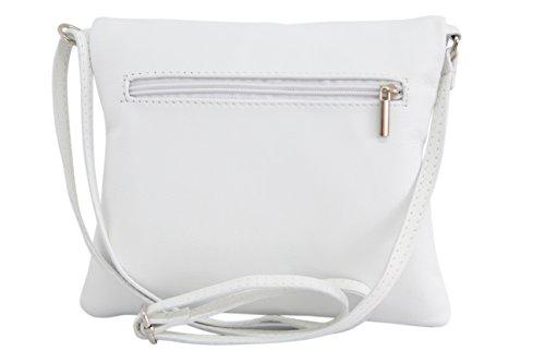 Donna a morbida Borsetta Nl610 bianca in Italian Bag Bandora Fashion Ambra tracolla pelle IqTvwZ