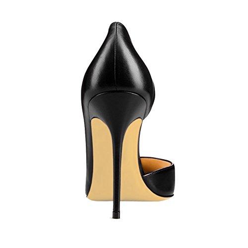tacón negro de fino mate Zapatos MERUMOTE Mujer q68gn0wT