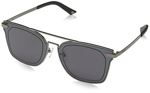 - Police Men's Spl348 Square Sunglasses, Gunmetal, 49 mm