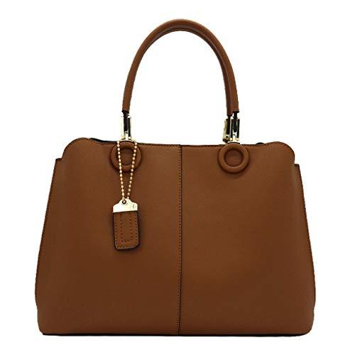 Femmes Messenger Capacité Kelly Grande Main Sacs Sac Sac Bag De PU Bag Caramel À rr5xAvzq