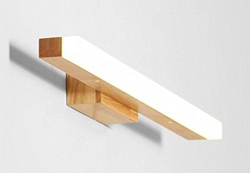Weiãÿ10w60cm Aglia UK LED-Massivholz-Wand-Lampen-Toiletten-Spiegel-vordere Lampen-wasserdichte Wand-Lampe ( Farbe   Weiß-10w60cm )