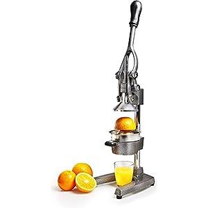 Lumaland Presse Agrume Manuelle en Inox – Presse Fruits, Citrons et Oranges Acier Inoxydable – Manuel Levier…