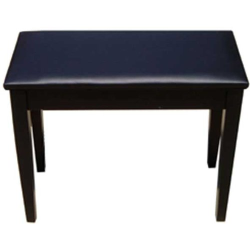 Korg PC500 Satin Piano Bench with Storage Compartment - Black