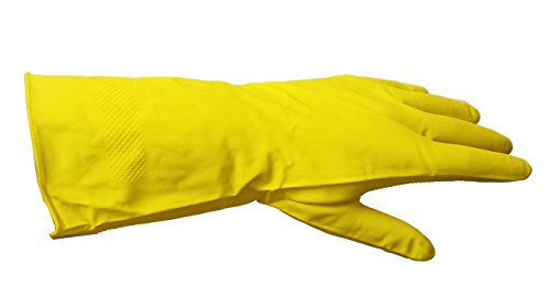 Yellow Rubber Gloves - 4