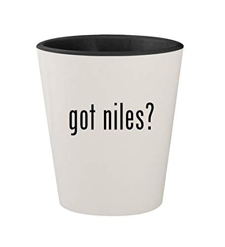 got niles? - Ceramic White Outer & Black Inner 1.5oz Shot Glass