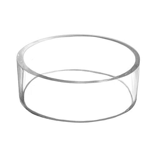 3 Basketball Football Volleyball Softball Soccer Ball Plastic Acrylic Round Pedestal Display Stand Ring Holder