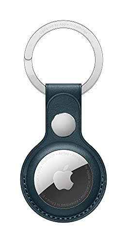 New Apple AirTag Leather Key Ring - Baltic Blue