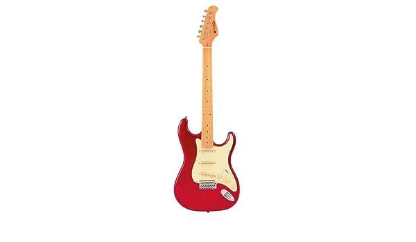 Guitarra eléctrica Prodipe de cuerpo sólido de 6 cuerdas (ST80 MA CAR): Amazon.es: Instrumentos musicales