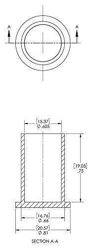 Caplugs QPZ5Q1 PZC-5 Plastic Sleeve Cap for Tube Ends, To Cap Thread Size 5/8'', PE-LD, Orange(Standard) (Pack of 1000) by Caplugs (Image #1)