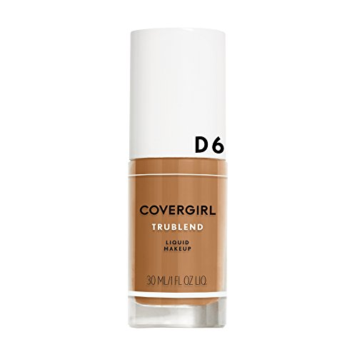 COVERGIRL truBlend Liquid Foundation Makeup Toasted Almond D6, 1 oz (packaging may vary)