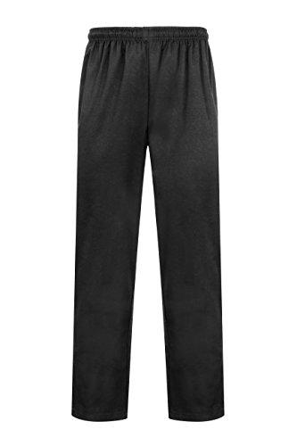 ProLuxe Pantalon de Chef Professionnel en Noir – Coupe Moderne Unisexe – Idéal pour Un Usage Quotidien